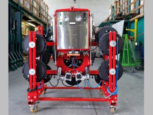 saugbatterie sauganlage gebogenes glas verglasen Maschine